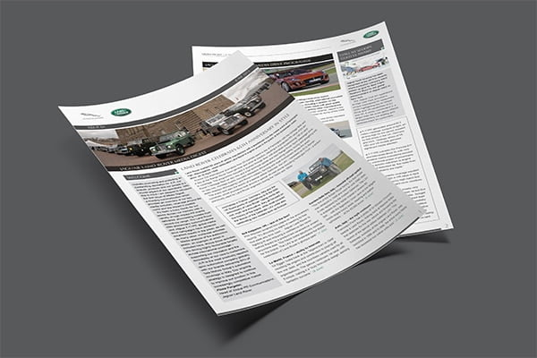 Jaguar Land Rover Press Digest
