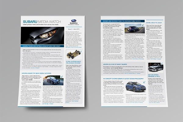 Subaru Press Digest